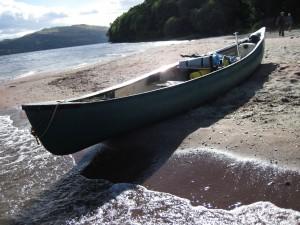 Canoe Camping Beach